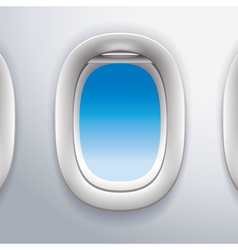 airplane windowstravel vector image