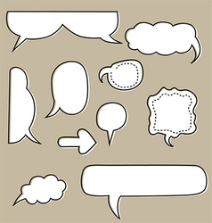 sketchy bubbles speech vector image