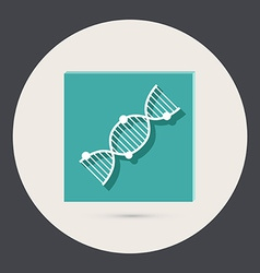 Dna helix medical research character icon vector