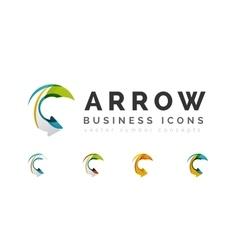 Set of arrow logo business icons vector