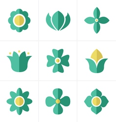 Flat icon flower icons set design vector