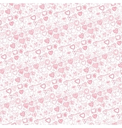 Hearts hand drawing doodlespattern background vector