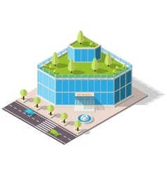 Isometric school high-tech vector