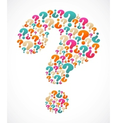 question mark speech bubble vector image