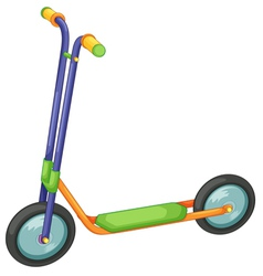 Child scooter vector