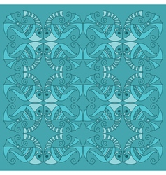 decorative fish pattern vector image