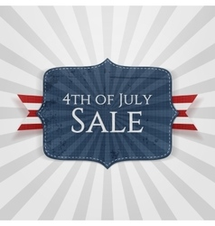 Fourth of july sale realistic badge vector