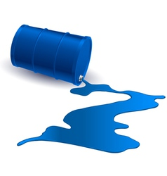 Barrel with blue liquid vector image