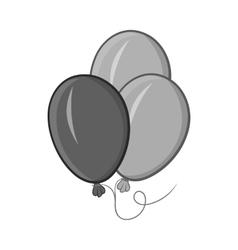Balloons icon black monochrome style vector