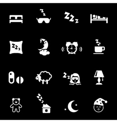 Bed time icons vector image vector image