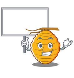 Bring board bee hive character cartoon vector