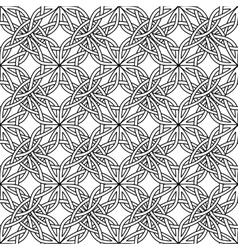 celtic seamless on white vector image vector image