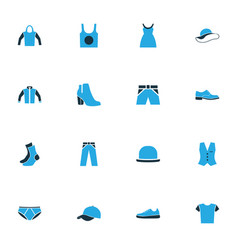 clothes colorful icons set collection of vector image