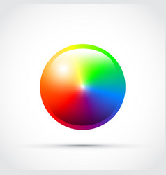 Cmyk round colour selector vector