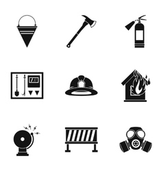 Fire icons set simple style vector