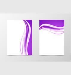 front and back elegant design flyer template vector image