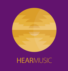 hear music logo poster vector image vector image