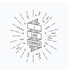 I love summer inspirational vector