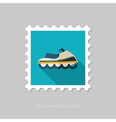Jet ski flat stamp summer vacation vector