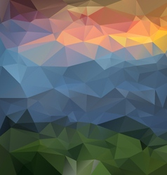 Landscapce mountains polygonal triangular pattern vector