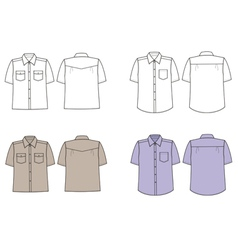 Man shirts vector image
