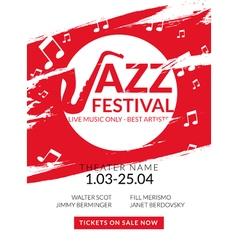Musical flyer jazz festival music poster vector