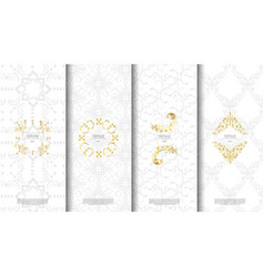 Packaging exotic thai pattern element concept vector