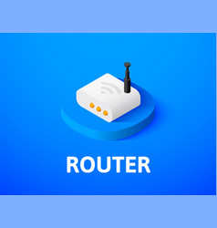 Router isometric icon isolated on color vector