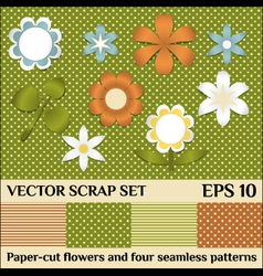scrap set vector image vector image