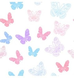 Seamless pattern made of koral butterflies vector image vector image