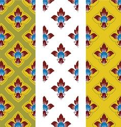 Thai style flower background pattern vector