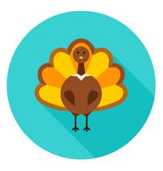 Thanksgiving turkey circle icon vector