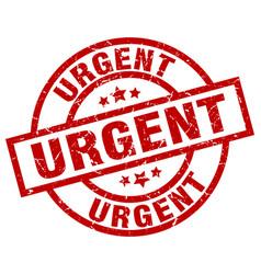 Urgent round red grunge stamp vector