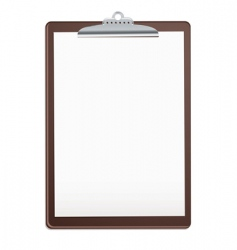 wood clipboard vector image vector image