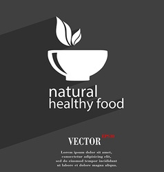 Healthy food concept symbol flat modern web design vector