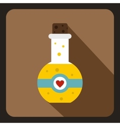 Magic potion icon flat style vector