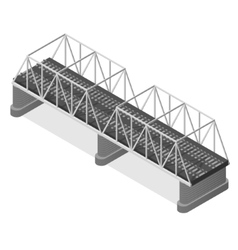 Steel railway bridge isometric view vector