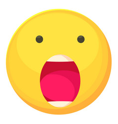 scared smiley icon cartoon style vector image
