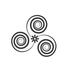 Decorate swirl ornate style vector