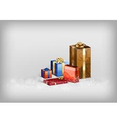 christmass gift grey vector image