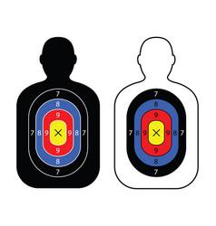 Men paper targets vector