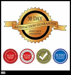 30 day money back guarantee vector