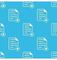 Favorite document blue pattern vector