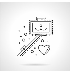 Selfie stick line icon vector
