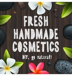 Fresh handmade organic cosmetics vector image