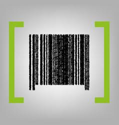 Bar code sign black scribble icon in vector