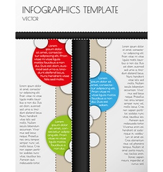 black and white infographics vector image vector image