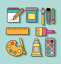 children instruments draw vector image