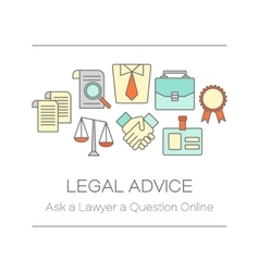 Concept of title site page or banner for legal vector