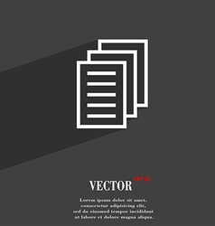 Copy file duplicate document symbol flat modern vector
